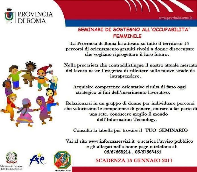 La provincia di Roma per l'occupazione femminile