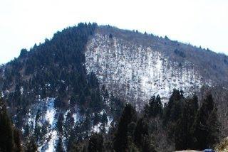阿佐山の山頂を見上げる