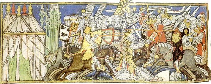 Schilderij Arabisch : Siegfried wordt weggeroepen om met al zijn ...