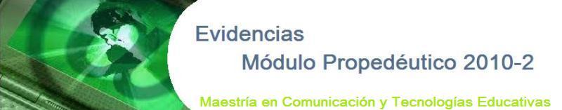 Evidencias Módulo de Investigación Semestre 2011- I