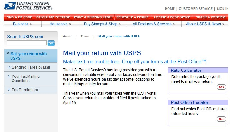 Sometime yesterday, the one and only united states postal service launched a mobile-friendly website