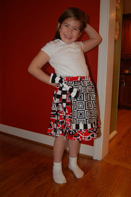 Children's Boutique Sewing Patterns: Applique Apron Skirt sewing