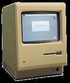 Steve Jobs apresentando o Macintosh