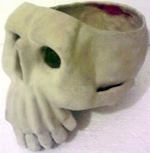 FINSIHED PROJECT: SKULL BOWL/CANDLE HOLDER