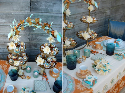 Wedding Reception Gifts on The Wedding Decorator  Beautiful Vintage Blues