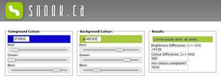 il contrasto dei colori testo e sfondo per un sito web