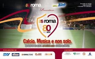 festa 80 anni della roma calcio