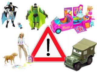 Attenzione al vostro bambino. Problemi seri ai giocattoli della MATTEL!