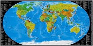 la mappa del mondo di tutte le estensioni di dominio disponibili