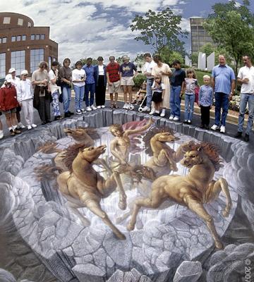 dipinti da strada di Kurt Wenner