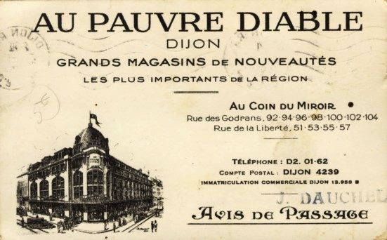 Dijon en 1900 au pauvre diable - Porte du diable dijon ...