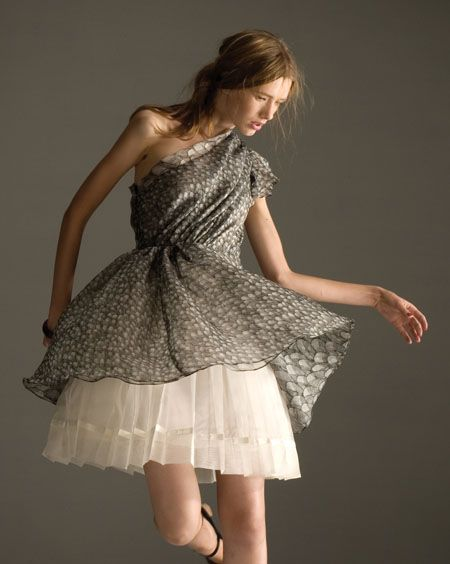MischenLaGarconne.jpg (image) :  mini mini dress tulle shoulder