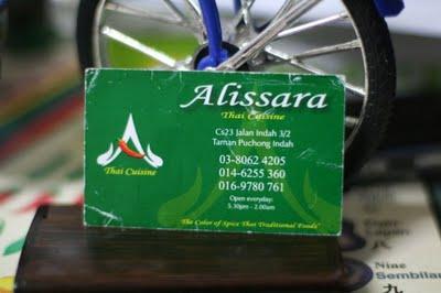 Seikhlas cintamu semurni kasihku makan2 kat alissara thai for Alissara thai cuisine