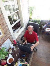 oldman at the laptop.