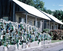 the bottle wall.