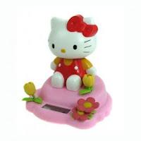 New Solar Powered Cute Hello Kitty Toy