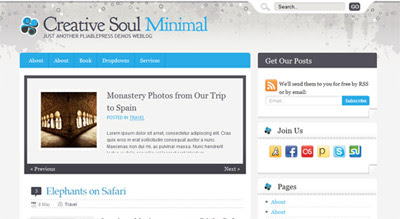 pliablepress creativesoul minimal PliablePress Went Live With Chameleon Framework And Many Themes