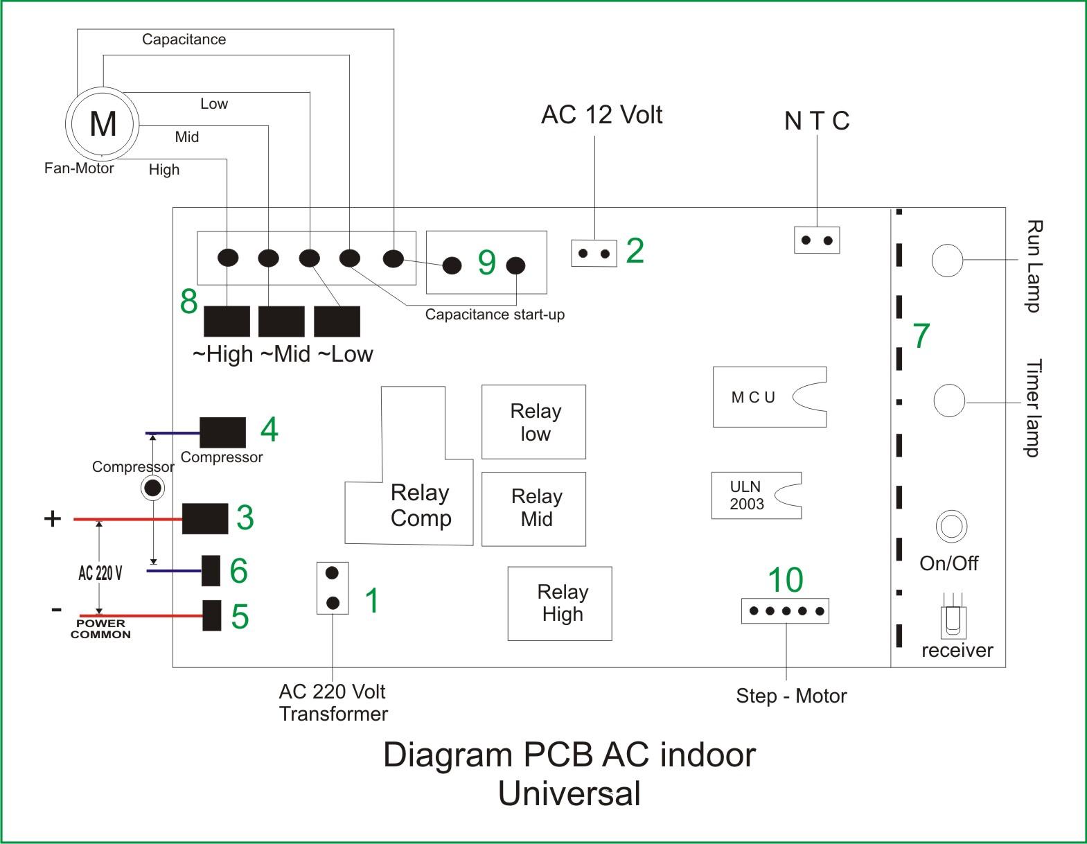 Diagram Pcb Control Dan Cara Pemasangannya