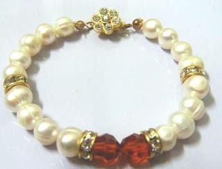 Kristal Swarovski   Swarovski Crystal, Mutiara Asli  Sabah Pearls