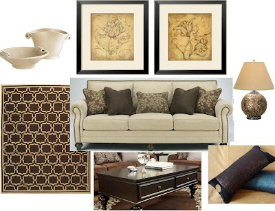 Beige Sofa with brown accent can be warm and inviting