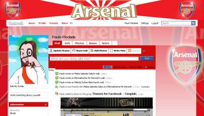 facebook skin layout - theme for facebook with  Arsenal