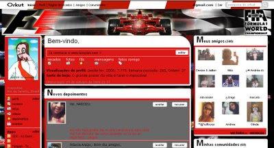 Tema skin para Orkut Formula 1