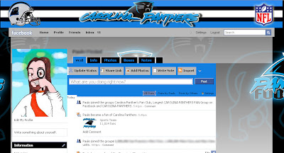 facebook skin layout - theme for facebook with  Carolina Panthers