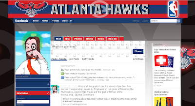 facebook layout skin template theme nba atlanta hawks