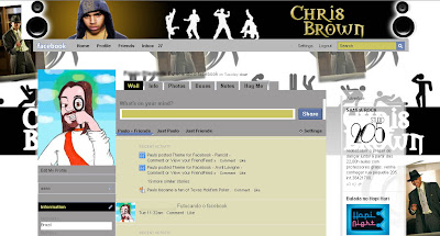 facebook layout skin template theme chris brown