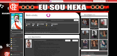 Tema skin para Orkut Flamengo Hexa  