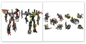 Transformers Combiner 5-Packs - Dinobots & Constructicons