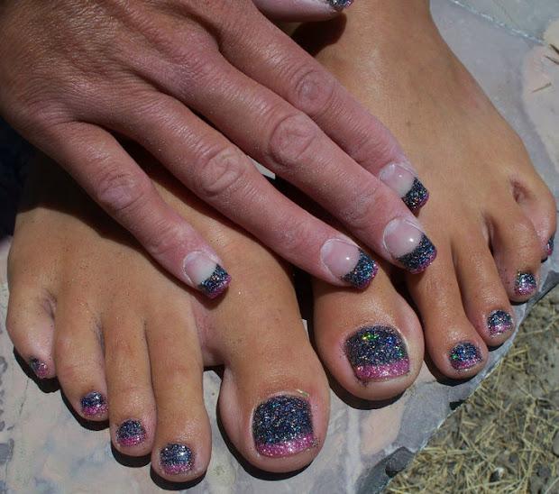 glitter toes steph shellac
