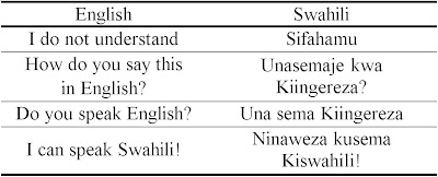 world of difference common swahili phrases part 1