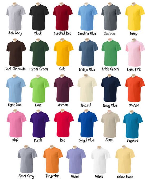 Poderosos colores el orden de los colores for One color t shirt