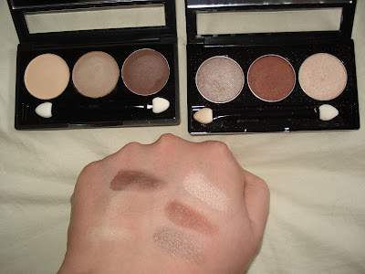 NYX trio swatches