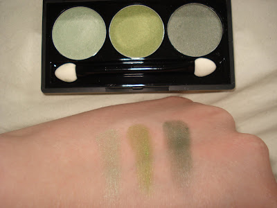NYX spring leaf, lime green, green tea swatch