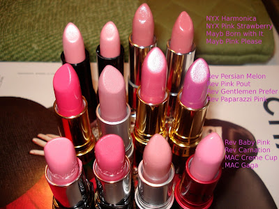 pink lipsticks