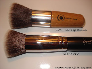 sigma makeup brush vs everyday minerals flat top