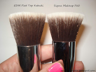 sigma makeup f80 vs everyday minerals flat top