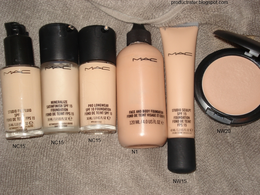productrater review mac pro longwear foundation and concealer