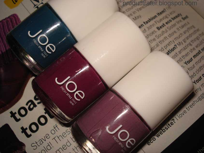 Productrater!: Joe Fresh Fall Nail Polish Swatches and Review