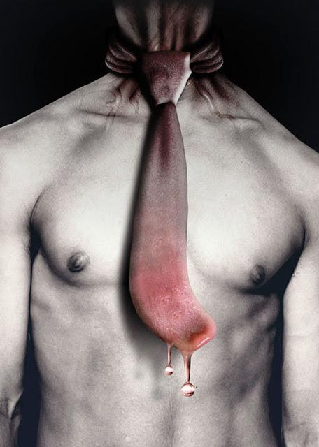hombre ahorcado por su lengua