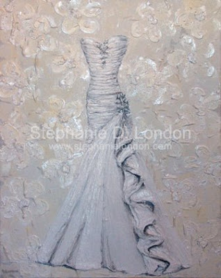 An amazing wedding keepsake Artist Stephanie London does custom paintings