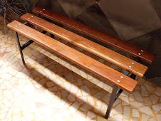 --------------------------------Banco para vestiário em Madeira e Aço  – PAS-120 R$250,00