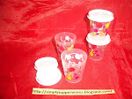 TUPPERWARE MIDGET/SMIDGET AND SMALL ROUND CONTAINERS