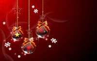 Christmas Hanging Balls Desktop Wallpapers