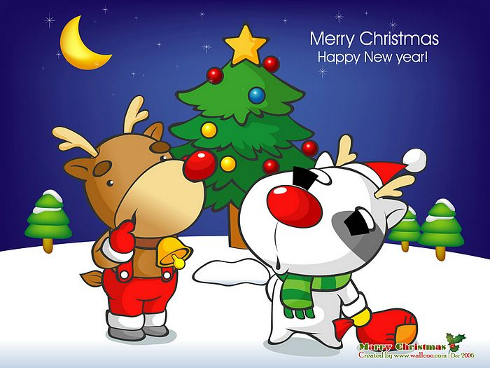 adult christmas cartoon wallpaper - photo #7