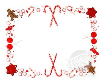 Dashing image inside free printable christmas borders