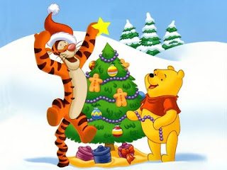 Winnie The Pooh Christmas Desktop Wallpapers