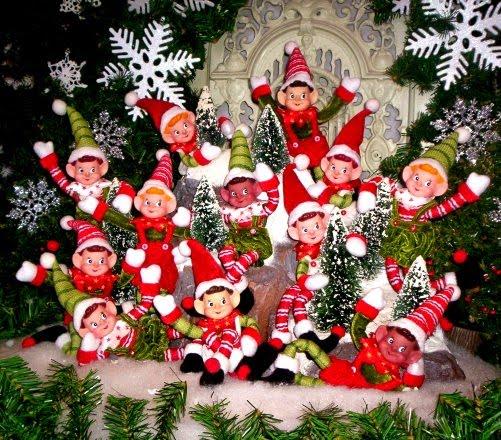 snowman and christmas wallpaper Christmas Elves Desktop Wallpapers